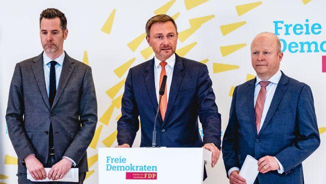 Christian Dürr, Christian Lindner und Michael Theurer
