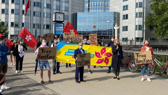 Demonstration, Menschen, Teuteberg