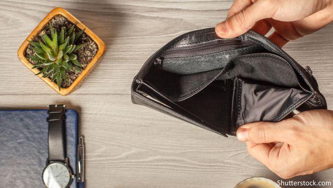 Leeres Portemonnaie, Geldbörse