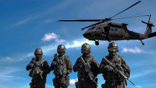 Bundeswehrsoldaten, Helikopter