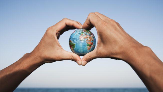 Weltkugel, Liebe, Herz