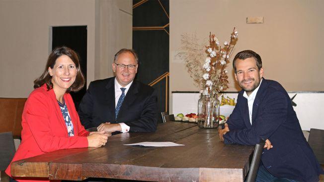Daniela Schmitt, Harald Christ, Johannes Vogel