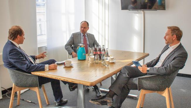 Alexander Graf Lambsdorff, Wladimir Kara-Mursa, Chrsitian Lindner
