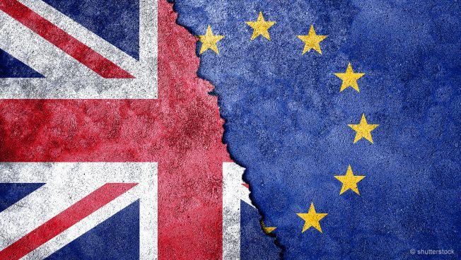 Brexit, EU-Flagge, England-Flagge