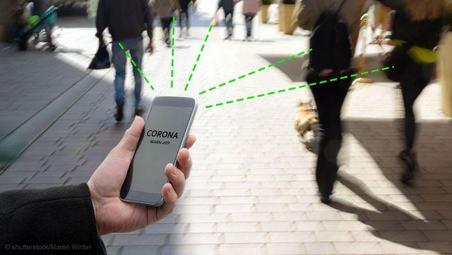 Smartphone, Corona-App