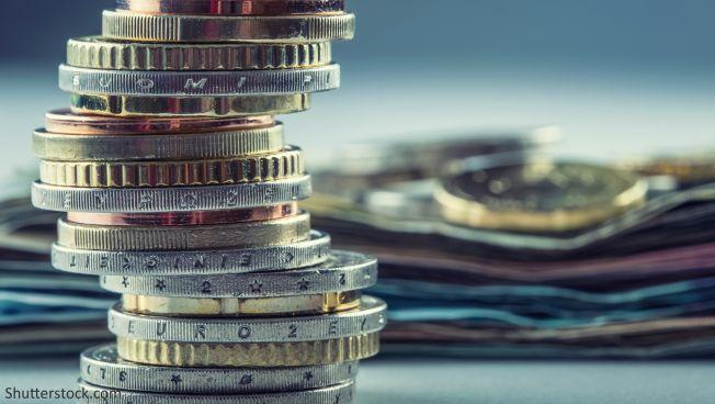 geldscheine, münzen