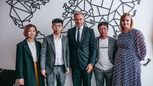 Joshua Wong, Christian Lindner, Gyde jensen