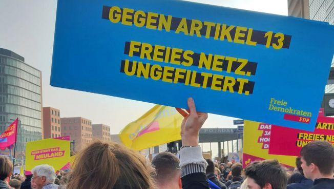 Demonstration gegen Uploadfilter