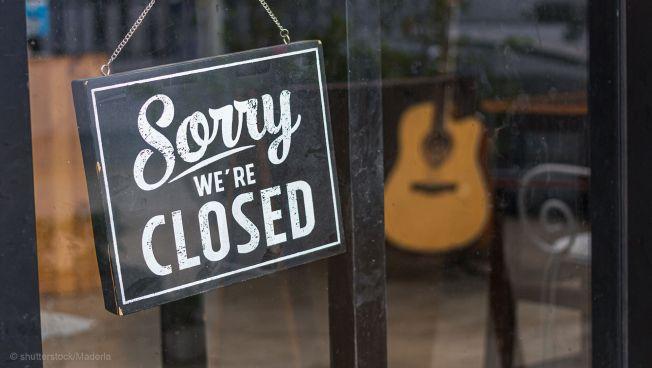 Laden, geschlossen