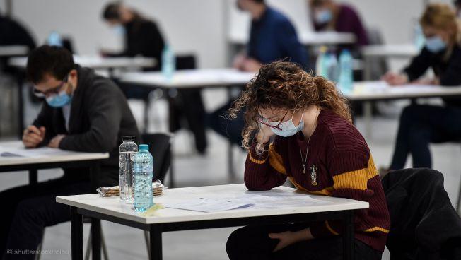 Abiturienten, Prüfung, Maske