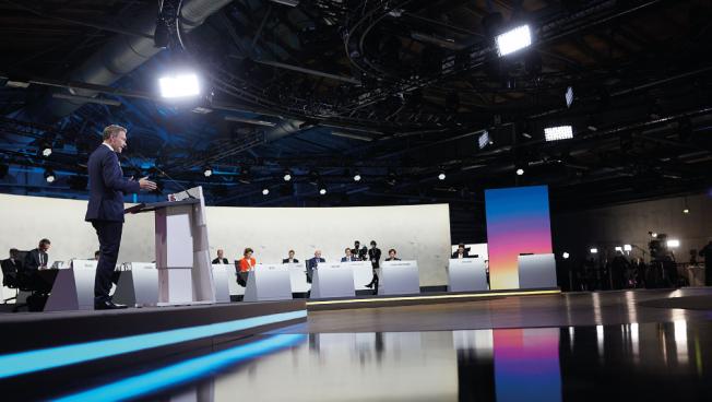 Präsidium, Station, Bundesparteitag