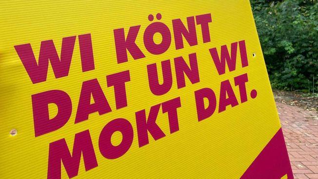 Wahlplakat auf Plattdeutsch
