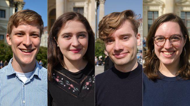 Clemens, Miriam, Timm und Jenny von der Jungen Europäischen Bewegung. Bild: Caitlin Hardee