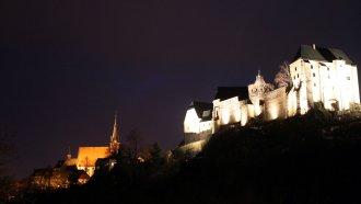 Burg Kriebstein in Sachsen bei Nacht