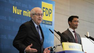 FDP-Spitzenteam Rainer Brüderle und Philipp Rösler