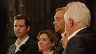 V.l.n.r.: Christian Dürr, Nicola Beer, Christian Lindner, Marie-Agnes Strack-Zimmermann, Wolfgang Kubicki