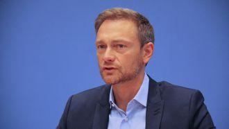 Christian Lindner bei der Bundespressekonferenz