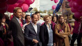 Christian Lindner mit NEOS im Wahlkampf