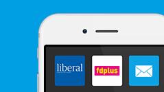 Die Apps von elde und liberal-Magazin auf einem Smartphone-Display