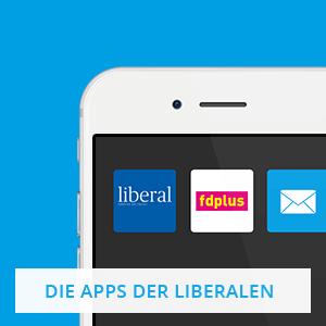 Apps von liberal und fdplus auf einem Smartphone